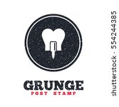 grunge post stamp. circle... | Shutterstock .eps vector #554244385