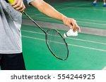 badminton serve | Shutterstock . vector #554244925