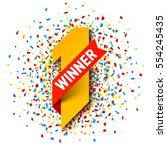 first winner  number one... | Shutterstock .eps vector #554245435