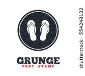 grunge post stamp. circle... | Shutterstock .eps vector #554248132