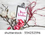 spring background with nice... | Shutterstock . vector #554252596