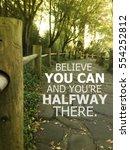 inspiration quote.   Shutterstock . vector #554252812
