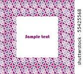 frame for decorating postcards. ... | Shutterstock .eps vector #55425568