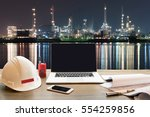 work table  work space on... | Shutterstock . vector #554259856