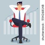 young businessman relaxing in... | Shutterstock .eps vector #554268148