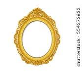vintage gold picture frame | Shutterstock .eps vector #554273632