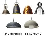 collection of  pendants... | Shutterstock . vector #554275042