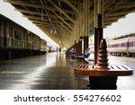 empty chair in bangkok railway... | Shutterstock . vector #554276602