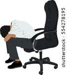 vector silhouette of... | Shutterstock .eps vector #554278195