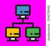 network icon flat design