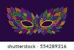 mardi gras mask. bright colors...   Shutterstock .eps vector #554289316