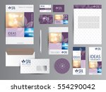 spa identity with logotype.  | Shutterstock .eps vector #554290042