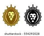 lion head minimalistic colorful ...   Shutterstock .eps vector #554292028