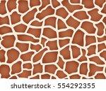 giraffe texture pattern.... | Shutterstock .eps vector #554292355