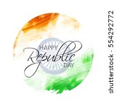republic day india. | Shutterstock .eps vector #554292772