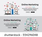 vector illustration. flat... | Shutterstock .eps vector #554296048