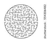 vector labyrinth 58. maze  ... | Shutterstock .eps vector #554306482