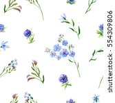 floral square seamless pattern... | Shutterstock . vector #554309806
