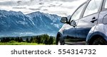 car for traveling with a... | Shutterstock . vector #554314732