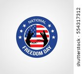 national freedom day vector... | Shutterstock .eps vector #554317312