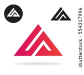 triangle logo isolated on white ... | Shutterstock .eps vector #554317996