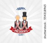happy presidents day vector...   Shutterstock .eps vector #554318965