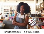 portrait of female employee... | Shutterstock . vector #554334586