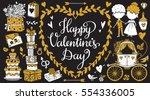 valentines day hand drawn ...   Shutterstock .eps vector #554336005