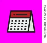 calendar icon flat design