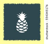 pineapple vector icon. tropical ... | Shutterstock .eps vector #554345176