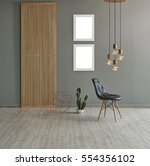 wall in front of modern wooden... | Shutterstock . vector #554356102