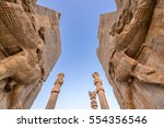 ruins of gate of all nations in ... | Shutterstock . vector #554356546