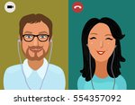 colorful vector illustration of ... | Shutterstock .eps vector #554357092
