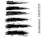 ink vector brush strokes.... | Shutterstock .eps vector #554357275