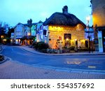 shanklin  isle of wight  uk.... | Shutterstock . vector #554357692