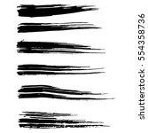 ink vector brush strokes....   Shutterstock .eps vector #554358736