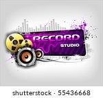 recording music banner | Shutterstock .eps vector #55436668