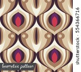 pattern of geometric shapes.... | Shutterstock .eps vector #554366716