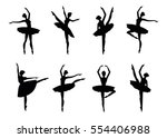 Ballerina Silhouette Isolated...