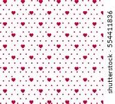 valentine day seamless pattern. ... | Shutterstock .eps vector #554411836