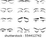 cartoon eyes | Shutterstock .eps vector #554412742
