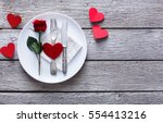romantic dinner concept.... | Shutterstock . vector #554413216