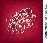 lovely red background full of... | Shutterstock .eps vector #554421562