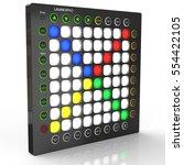 3d render. creative modern... | Shutterstock . vector #554422105
