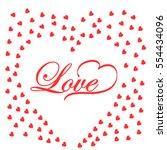 love heart background | Shutterstock .eps vector #554434096