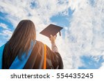 graduates of the university of... | Shutterstock . vector #554435245