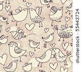 romantic seamless pattern in... | Shutterstock .eps vector #55443724