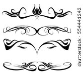 decorative monograms and... | Shutterstock .eps vector #554441242