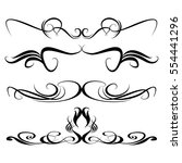 decorative monograms and... | Shutterstock .eps vector #554441296