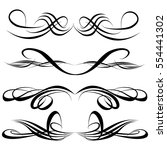 decorative monograms and... | Shutterstock .eps vector #554441302